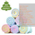 Débarbouillettes pour bébés en bambou, serviettes pour le visage de bébé - extra doux pour le nouveau-né/le nourrisson/les enfants/les adultes - Ultra doux pour bébé (Paquet de 12) (11.8''x11.8 '') de la marque Leepem baby image 4 produit
