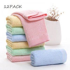 Débarbouillettes pour bébés en bambou, serviettes pour le visage de bébé - extra doux pour le nouveau-né/le nourrisson/les enfants/les adultes - Ultra doux pour bébé (Paquet de 12) (11.8''x11.8 '') de la marque Leepem baby image 0 produit