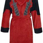 Deadpool Peignoir de Bain Adulte Officiel Marvel Polaire - - ROUGE/NOIR - Taille Unique de la marque Groovy image 1 produit
