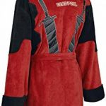 Deadpool Peignoir de Bain Adulte Officiel Marvel Polaire - - ROUGE/NOIR - Taille Unique de la marque Groovy image 2 produit