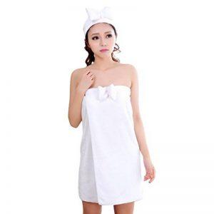 Dehang – Femme Fille Serviette de Bain Peignoir Robe de Chambre Drap de Bain nœud Papillon Wrap Sexy – avec Baudeau de Cheveux - 4 Couleurs Disponible de la marque Dehang image 0 produit