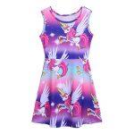 Déguisement Licorne Enfant Fille Robe Arc-en-Ciel Casual Cartoon Pyjama Licorne Robe Pull T-Shirt Robe de Chambre 2-9 Ans de la marque IEFIEL image 2 produit