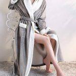 DianShaoA Peignoir Unisexe Femme Homme Velours Robe De Chambre Polaire Chaud Long Flanelle Peignoirs De Bain Eponge Longue de la marque DianShaoA image 2 produit