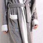 DianShaoA Peignoir Unisexe Femme Homme Velours Robe De Chambre Polaire Chaud Long Flanelle Peignoirs De Bain Eponge Longue de la marque DianShaoA image 4 produit