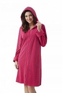 DOROTA Peignoir/Robe de Chambre Tendance, en Coton Souple, avec Poches, Zip et Capuche de la marque DOROTA image 0 produit