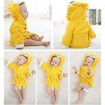 Doux et confortable Serviette de bain bébé Cartoon Lion enfants peignoir cape nouveau-né à capuchon (jaune) Serviette Super Absorbante de la marque Fushenr image 1 produit