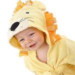 Doux et confortable Serviette de bain bébé Cartoon Lion enfants peignoir cape nouveau-né à capuchon (jaune) Serviette Super Absorbante de la marque Fushenr image 2 produit