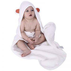 Drap de bain pour bébé - 70 x 70 cm - Oeko-Tex® 100 - Blanc de la marque Preiswert&Gut image 0 produit