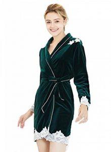 DSJJ Peignoir Femme Velours Robe de Chambre Polaire Chaud Long Flanelle Peignoir de Bain Eponge Hiver Longue Vêtements de Nuit de la marque DSJJ image 0 produit