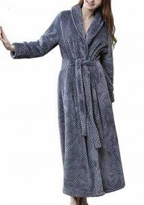 DSNOW Peignoir de Bain en éponge Extra-Long pour Femme 100% Coton Tissu Bouclette Doux et léger Robe de Chambre de la marque DSNOW image 0 produit