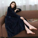 DSNOW Peignoir de Bain en éponge Extra-Long pour Femme 100% Coton Tissu Bouclette Doux et léger Robe de Chambre de la marque DSNOW image 1 produit