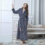 DSNOW Peignoir de Bain en éponge Extra-Long pour Femme 100% Coton Tissu Bouclette Doux et léger Robe de Chambre de la marque DSNOW image 2 produit