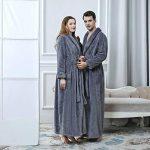 DSNOW Peignoir de Bain en éponge Extra-Long pour Femme 100% Coton Tissu Bouclette Doux et léger Robe de Chambre de la marque DSNOW image 3 produit