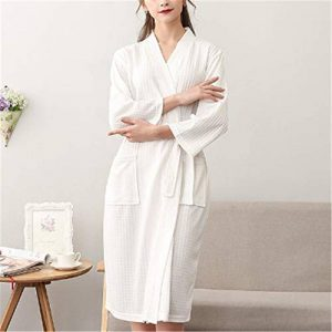 DUJUN Col V Unisexe Pyjama l'hôtel Spa Sauna Vêtements de Nuit,Mince Section Manches Longues XL Hommes et Femmes A-4 XXXL de la marque DUJUN image 0 produit