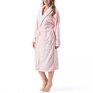 DUJUN Peignoir de Bain Femme Peignoir en Eponge Microfibre, Femme Robe de Chambre Longue Hiver Chaud,Peignoir Unisexe en Flanelle épaissie et Chaude de la marque DUJUN image 0 produit
