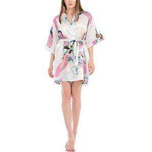 DUJUN Peignoir de Bain Femmes Satin Lisse Élégant Col V Bande Noué Confortable Lâche - Robe,Peignoir Sexy en Pyjama de la marque DUJUN image 0 produit