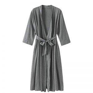 DUJUN Peignoir de Bain pour Femme, Soft Satin Grue Chemises de Nuit Robes de Chambre et Kimono de Nuit Pyjamas Demoiselle d'honneur la mariée,Peignoir de Bain à Manches Longues de la marque DUJUN image 0 produit