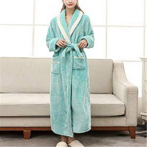 DUJUN Unisexe Lâche Ruban Chemise de Nuit Combinaison de Pyjamas Vêtement de Sauna Plage Piscine Hôtel,Couture de Flanelle Sexy XL A-3 XL de la marque DUJUN image 0 produit