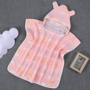 DWZX serviette de bain pour enfants absorbant sans bébé fluorescent en coton gaze pure coton quatre couches avec cape cape cape de la marque DWZX image 0 produit