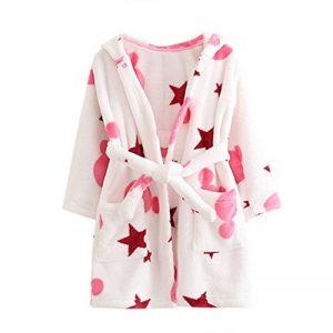 ECHERY Unisexe Filles Garçons à Capuche Peignoir Doux Coral Fleece Pyjamas Enfants Chemise de Nuit Robe de Chambre Vêtements De Nuit de la marque ECHERY image 0 produit