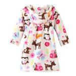 ECHERY Unisexe Filles Garçons à Capuche Peignoir Doux Coral Fleece Pyjamas Enfants Chemise de Nuit Robe de Chambre Vêtements De Nuit de la marque ECHERY image 1 produit