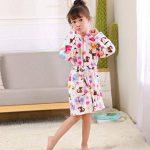 ECHERY Unisexe Filles Garçons à Capuche Peignoir Doux Coral Fleece Pyjamas Enfants Chemise de Nuit Robe de Chambre Vêtements De Nuit de la marque ECHERY image 3 produit