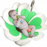 Edith qi Baby Bathtub,Siège de Bain Bébé,Nouveau coussin de tapis de bain de fleur,Bébé évier baignade,Beau cadeau de bébé pour le baptême de nouveau-né,Fête d'anniversaire (0-6 mois bébé) de la marque Edith qi image 2 produit
