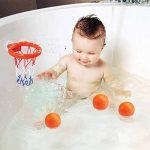 Ellien Cerceaux de Basket-Ball de Jouets de Bain pour Enfants et Tout-Petits avec 3 balles, Jeu de tir de Baignoire pour Petits garçons et Filles de la marque Ellien image 1 produit