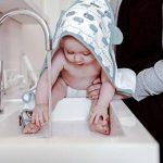 emma & noah cape de bain pour bébé, avec oreilles, extra douce, tissu éponge, 100% coton, 80x80 cm, pour filles et garçons, serviette de bain bébé avec capuche, peignoir, sortie de bain de la marque EMMA-NOAH image 4 produit