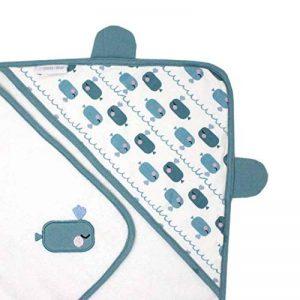 emma & noah cape de bain pour bébé, avec oreilles, extra douce, tissu éponge, 100% coton, 80x80 cm, pour filles et garçons, serviette de bain bébé avec capuche, peignoir, sortie de bain de la marque EMMA-NOAH image 0 produit