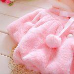 Enfant Bébé Fille 3D Oreilles de Lapin Capuchon Doux Chaud en Coton Veste de Hiver Épais avec Dande Manteau à Chapeau de la marque Koly image 2 produit