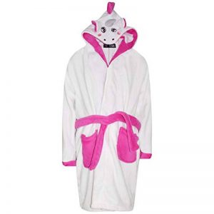 Enfants Filles Garçons des Peignoirs Designer 3D Animal Licorne Encapuchonné Soft Court Toison Dressing Robe Vêtements de Nuit Loungwear Âge 2-13 Ans de la marque A2Z+4+Kids image 0 produit