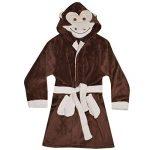 Enfants Filles Garçons des Peignoirs Designer 3D Animal Singe Encapuchonné Doux Court Lush Toison Dressing Robe Vêtement de Nuit Loungewear Âge 2 3 4 5 6 7 8 9 10 11 12 13 Ans de la marque A2Z+4+Kids image 2 produit