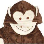 Enfants Filles Garçons des Peignoirs Designer 3D Animal Singe Encapuchonné Doux Court Lush Toison Dressing Robe Vêtement de Nuit Loungewear Âge 2 3 4 5 6 7 8 9 10 11 12 13 Ans de la marque A2Z+4+Kids image 3 produit