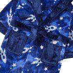 Enfants/garçons l'espace Bleu Impression Peluche Polaire Robe de Chambre de la marque MiniKidz++4Kidz image 1 produit