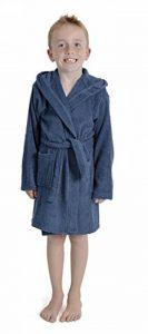 Enfants Garçons Peignoir Capuche Éponge Peignoir 100% Coton Terry Serviette Peignoir Doux Towling Lounge Wear 7-13 Ans de la marque Aumsaa image 0 produit