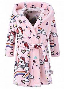 Enfants Peignoir à Capuche imprimé Animal Robe de Chambre Douce Flanelle à Capuchon Peignoir de Bain de la marque FMDD image 0 produit