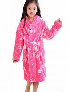 Enfants Peignoir de Bain à Capuche Flanelle Robe de Chambre Fille Garçon Automne Hiver Pyjama Vêtement de Nuit de la marque XINNE image 0 produit