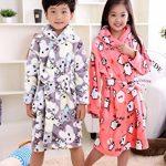 Enfants Peignoir de Bain à Capuche Flanelle Robe de Chambre Fille Garçon Automne Hiver Pyjama Vêtement de Nuit de la marque XINNE image 1 produit