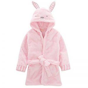 Enfants peignoir robe de chambre, bambin serviette à capuchon bébé chemise de nuit en flanelle robe de bain garçons filles animal pyjamas mignon robe de nuit de la marque Vine image 0 produit