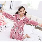 Enfants Petit Garçon Fille Flanelle Peignoir Robe de Chambre Chaud Manches Longues Floral Vêtements De Nuit d'hiver de la marque YAOTT image 1 produit