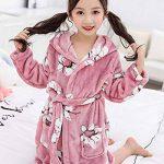Enfants Petit Garçon Fille Flanelle Peignoir Robe de Chambre Chaud Manches Longues Floral Vêtements De Nuit d'hiver de la marque YAOTT image 3 produit
