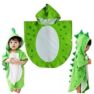 Enfants serviette de bain robe enfants capuche plage natation poncho dinosaure de la marque DRCOOL image 0 produit