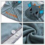Enfants serviette Motif gris de dinosaure enfants peignoir coton bio enfants bébé combinaison de bain maillot de bain serviette à langer serviette de bain de plage serviette de bain à capuchon de plag de la marque Zxllyntop-sports image 2 produit