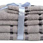 Ensemble de 3ou 4serviettes d'hôtel serviette de bain, gant de toilette, serviette de mains, 100% coton, 500g/m², 100 % coton, gris, Lot de 6 de la marque Glamaxx image 2 produit
