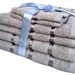 Ensemble de 3ou 4serviettes d'hôtel serviette de bain, gant de toilette, serviette de mains, 100% coton, 500g/m², 100 % coton, gris, Lot de 6 de la marque Glamaxx image 3 produit