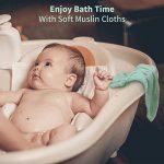 Ensemble de 6 débarbouillettes de bain pour bébé, Serviettes de toilette extra douces pour nouveau-né, Lingettes réutilisables en coton biologique naturel (6 pack,26 X 26cm) (6 pack) de la marque PB PEGGYBUY image 4 produit