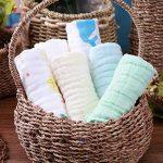 Ensemble de 6 débarbouillettes de bain pour bébé, Serviettes de toilette extra douces pour nouveau-né, Lingettes réutilisables en coton biologique naturel (6 pack,26 X 26cm) (6 pack) de la marque PB PEGGYBUY image 1 produit