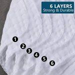 Ensemble de 6 débarbouillettes de bain pour bébé, Serviettes de toilette extra douces pour nouveau-né, Lingettes réutilisables en coton biologique naturel (6 pack,26 X 26cm) (8 pack) de la marque PB PEGGYBUY image 4 produit