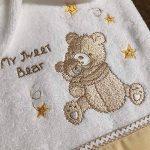 Ensemble de bain serviette et gant Ourson brodé et personnalisé au prénom de bébé, cadeau naissance, bapteme, garcon fille, 70x140cm de la marque N/D image 1 produit